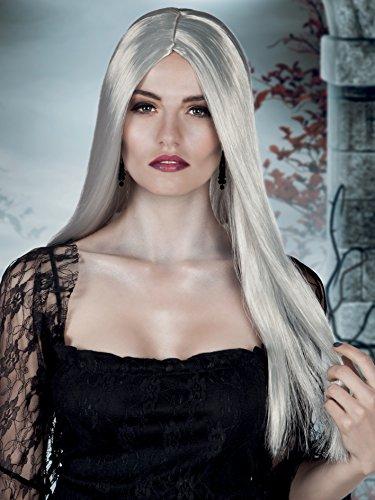 Boland- Parrucca Lunga Strega Bewitched per Adulti, Grigio, Taglia Unica, 86082