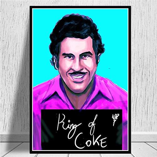 yitiantulong Pablo Escobar Charakter Legende Retro Vintage Poster Wandmalerei Leinwand Kunst Wandbilder Wohnkultur Картины Plakat A-2341 (40X60Cm) Ohne Rahmen