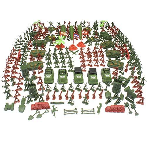 Toyvian 307Ps Figuras Militares de Plástico Miniatura del Ejército de los Hombres del Vehículo Mini Soldado Modelo de Juguete Regalo para Niños Pequeños