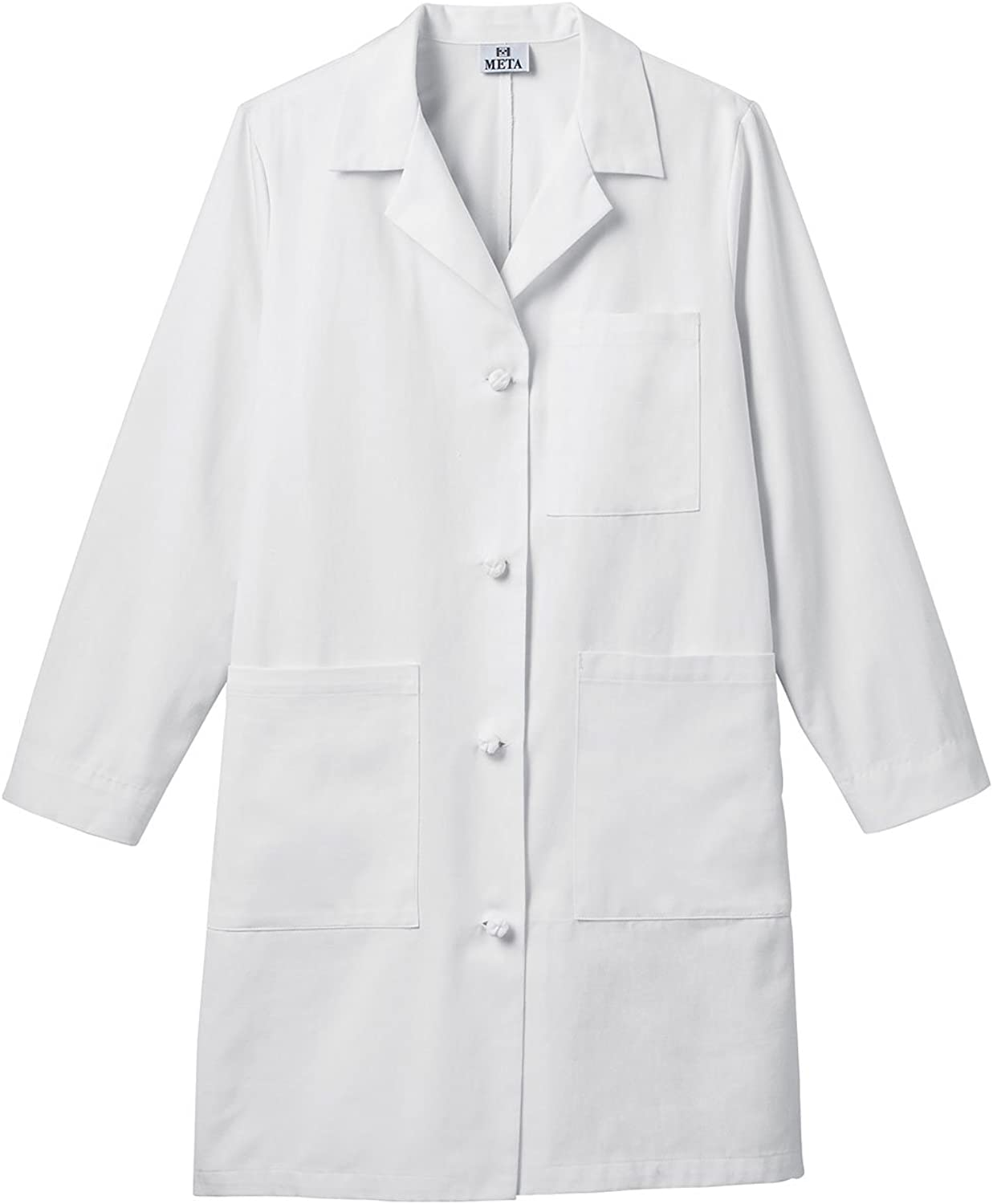 Meta 763 Women's 38  Knot Button iPad Lab Coat