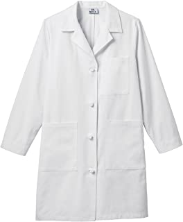 medline knot button lab coat