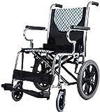 Sillas de ruedas eléctricas para adultos Silla de ruedas, plegable luz manual...