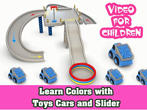 Learn Colors with Toys Cars and Slider