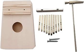 MAODOXIANG Thumb Pianos 10 Key Kalimba Diy Kit Bass Wood Thumb Piano Mbira for Handwork Painting Parents-Child Campaign (C...