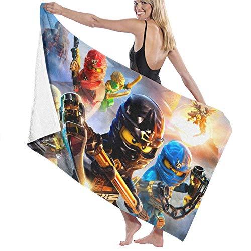 Strandtücher Ninjago, großes Mikrofaser-Strand-Badetuch, leicht, für Sport, Reisen, Fitnessstudio, Sommerhandtücher, 80 x 130 cm