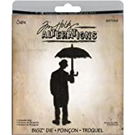 Sizzix 657189 Bigz Die Umbrella Man by Tim Holtz, Black