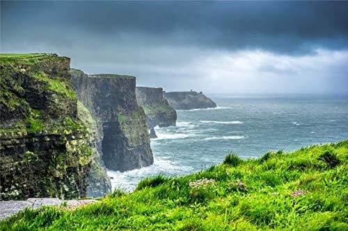 Deerbird Puzzle Grande da 1000 Pezzi - Le Scogliere di Moher, Irlanda - Puzzle da 1000 Pezzi per Adulti e Adolescenti - Cliffs of Moher Serie di Paesaggi 19,69 * 27,55 pollici