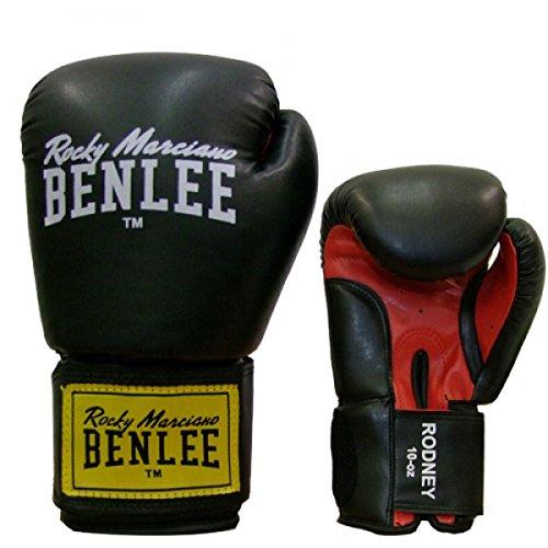 BENLEE Boxhandschuhe RODNEY PU (Schwarz, 10 oz)