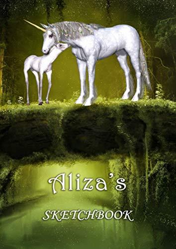 Aliza's Sketchbook: Aliza Personalised Custom Name A4 Sketchbook / Sketchpad / Workbook...