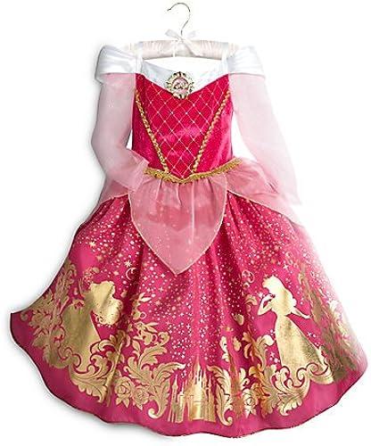 DéguiseHommest pour enfants Aurore, La Belle au Bois Dorhommet, Taille des enfants 5-6 ans, costume officiel de Disney,