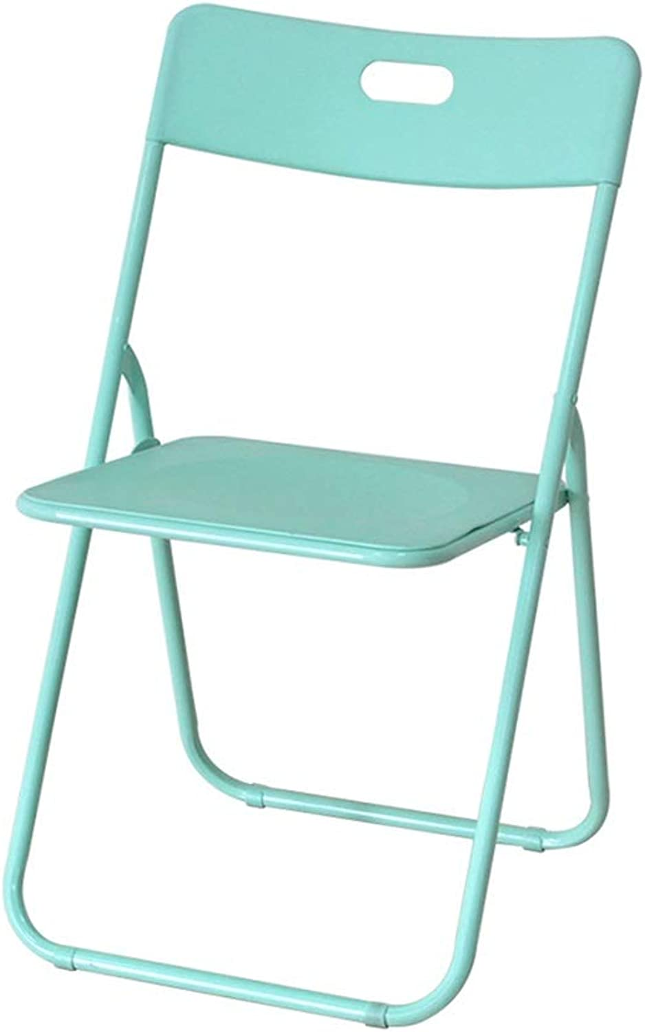 AGLZWY Folding Chairs Multipurpose Plastic Thicken Non-Slip Portable Save Space Living Room Bench Computer Change shoes Stool,Multiple Colour (color   Green, Size   46X46X79CM)