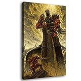Ashen One vs Yhorm The Giant Dark Souls Leinwandkunst
