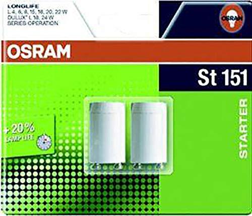 Osram Starter 151 Longlife, Für Einzelschaltung von Leuchtstoffröhren, 2er-Pack