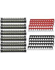 KIMISS 5Pcs Bloque de terminales de tornillo, fila doble 12 posiciones 600V 15A Tira de terminal de tornillo + Tira de barrera de terminal preaislada