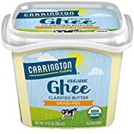 Carrington Farms USDA Certified Organic Grass Fed Ghee, 12oz., Compare Our Cost Per Ounce