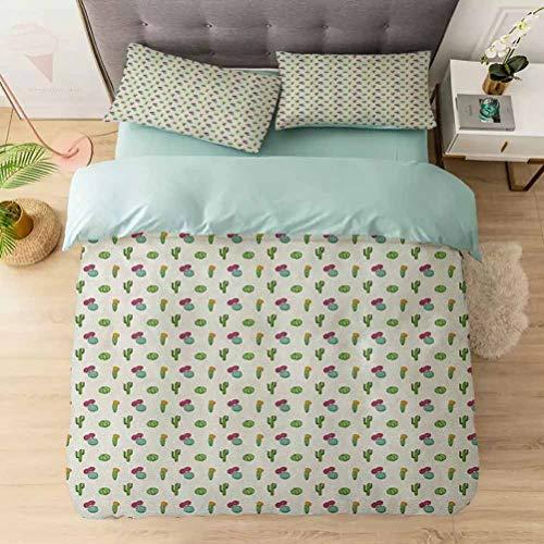 Aishare Store Bedding Duvet Cover Set, Horizontal Plant Pattern Flower Arrangement Blossoming Nature Inspiratio, Soft Lightweight Microfiber 1 Duvet Cover and 2 Pillowcases, Multicolor