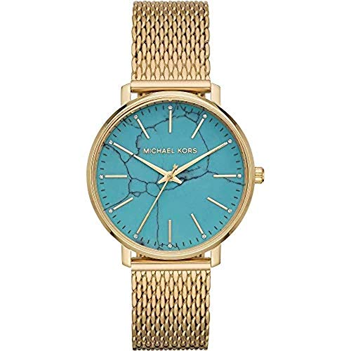 Michael Kors Damen Analog Quarz Uhr mit Edelstahl Armband MK4393