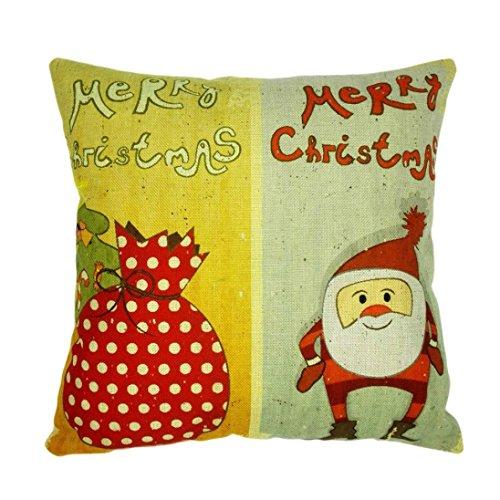 Preisvergleich Produktbild Ronamick Dekorative Sofa Home Karikatur Auto Garten Décor Fall Hohe Qualität Weihnachten 45 X 45 cm Super Kaschmir Ultra Samt Kissenbezug (H)