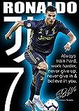 Cristiano Ronaldo Juventus Turin Bunt Motivationsposter mit