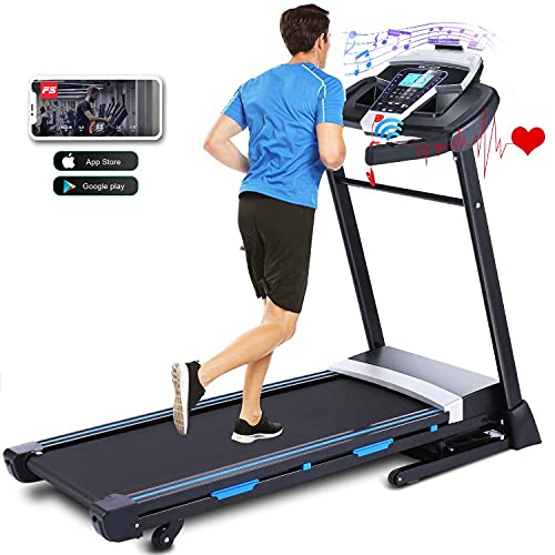 ANCHEER Treadmill, 3.25HP APP Treadmills for Home with Automatic Incline, Running Walking Jogging Machine for Home/Office/Gym Cardio Use