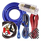 Complete 4000W Gravity 0 Gauge Amplifier Installation Wiring Kit Amp Pk3 0 Ga Blue - for Installer and DIY Hobbyist - Perfect for Car/Truck/Motorcycle/Rv/ATV