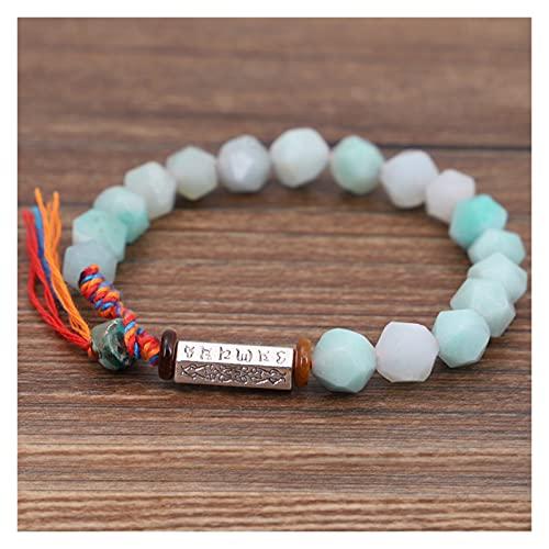 COKILU Tibetano Budista Trenzado Hilo de algodón Lucky Nudy Pulsera Bodhi Beads Tejiendo Proverbio de Seis Caracteres Pulsera de Amuleto for Hombres Espíritu Malvado Dinero Dibujo Riqueza Fortuna