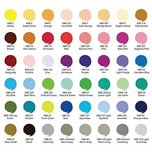 Sakura Acuarela marcador Koi Pincel para colorear Pluma borgoña, acuarela, marcadores no permanentes, marcadores, marcadores, suministros de arte