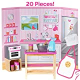 Adora Amazing World Love To Bake Wooden Play Set  20 Piece Accessory Set For 18 Dolls [Amazon Exclusive]