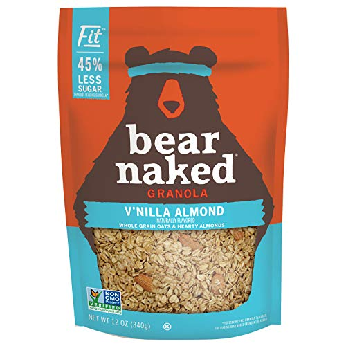 Bear Naked Vanilla Almond Fit Granola - Non-GMO, Kosher, Vegan - 12 Oz (Pack of 6)