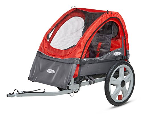 Instep Bike Trailer for Kids, Single and Double Seat, Single Seat, Red