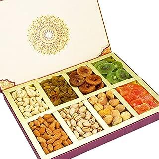 Ghasitaram Gifts Diwali Dryfruits Fusion 8 Part Assorted Dryfruit Box