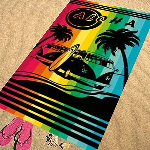 CONFORT HOME M.T. (150 X 170 CM) Toalla Playa Doble - Pool Edition - Algodón Egipcio 100 (11858 Peace)
