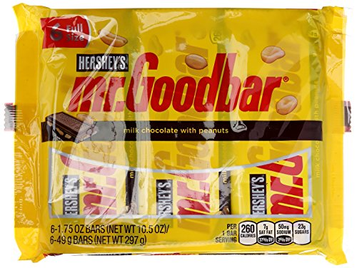 HERSHEY'S Mr Good Bar With Peanuts, 6 ct
