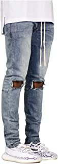 Men Jeans Stretch Destroyed Ripped Design Skinny Jeans