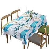Tovaglia impermeabile in PVC per tavolini da caffè, scrivanie e scrivanie, a prova di olio e anti-caffè, motivo blu, 135 * 200CM