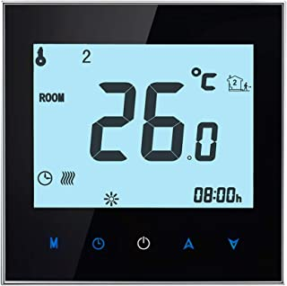 for Tang YI MING TL BHT-1000-GB-WIFI 16A Load Electronic Heating Type Touch LCD Digital WiFi Heating Room Thermostat with Sensor, Display Clock/Temperature/Periods/Time/Week/Heat etc.(Black)