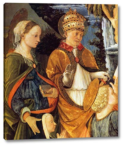 """Madonna Della Cintola Detail by Fra Filippo Lippi - 20"""" x 24"""" Gallery Wrap Canvas Art Print - Ready to Hang"""