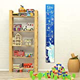 Custom Personalized Name Child Growth Chart - Unicorn & Fairies in The Night Sky on Abaca Board