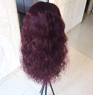 13x4 Lace Front Human Hair Wigs 99J/Burgundy RedWine Pre Plucked Body Wave Lace Wigs 150% Density Brazilian Remy Hair Wig KEMY,Lace Front Wig,18inches