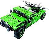 Deportes al aire libre Tanque RC Tanque militar UAV Carrier con drone aéreo Ladrillos de construcción Juguete de control de radio 506 piezas Kit de automóvil todoterreno con batería recargable USB