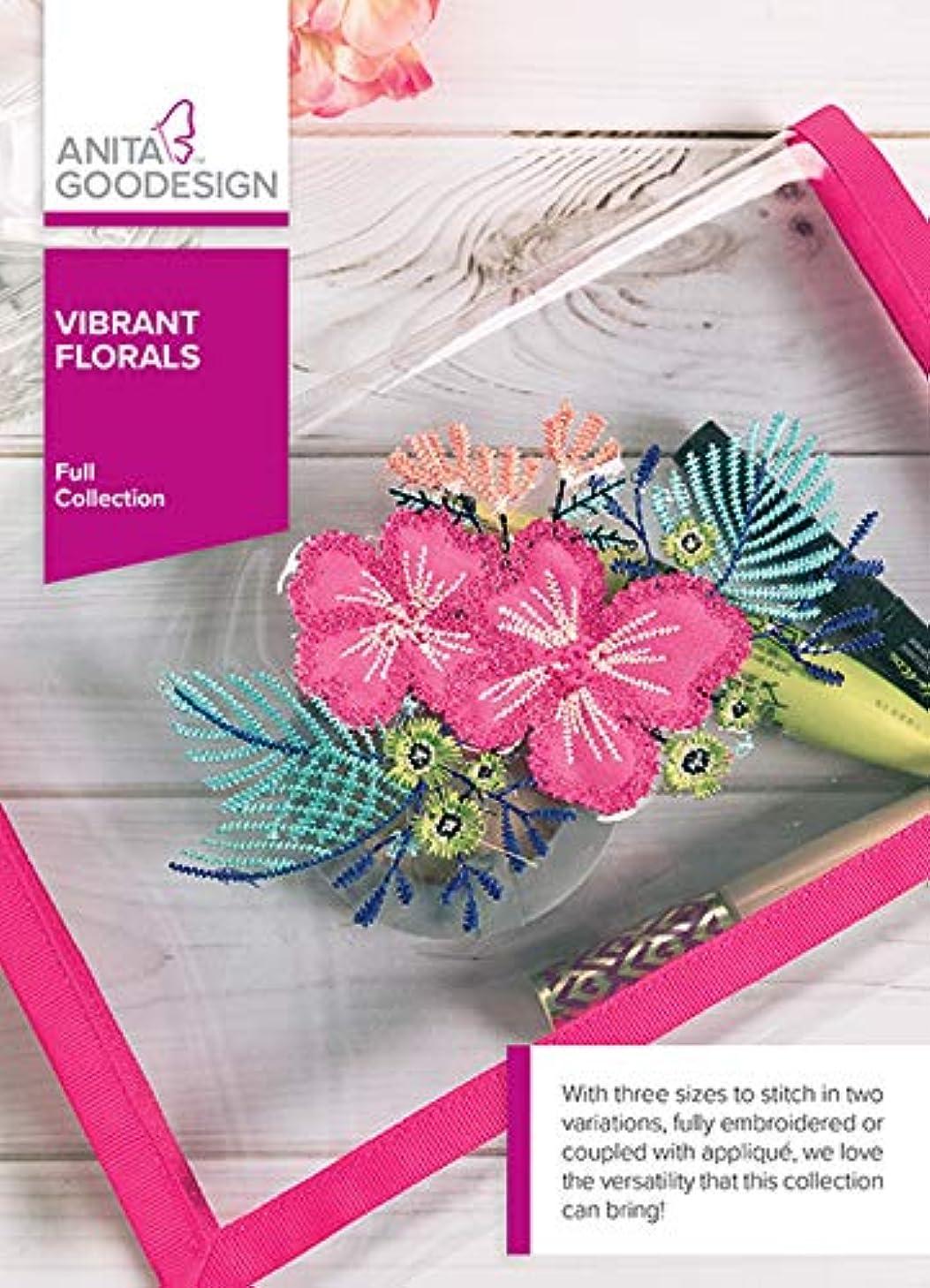 Anita Goodesign Embroidery Machine Designs CD Vibrant Florals