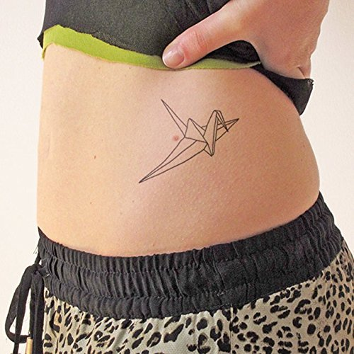 Origami - Temporary tattoo (Set of 2)