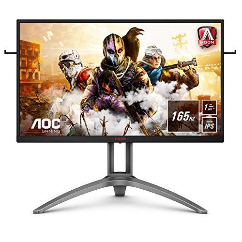 """AOC AGON AG273QXP - Monitor da gioco QHD da 27"""", 165 Hz, 1 ms, HDR400, FreeSync Premium Pro (2560 x 1440, HDMI, DisplayPort, hub USB), colore: Nero/Rosso"""