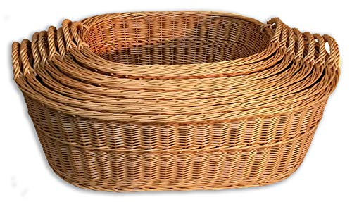 Alpenfell Babykorb Wäschekorb Weidenkorb Tragekorb - in 8 Größen, mit Griff, Handarbeit, sehr stabil (Korb A)