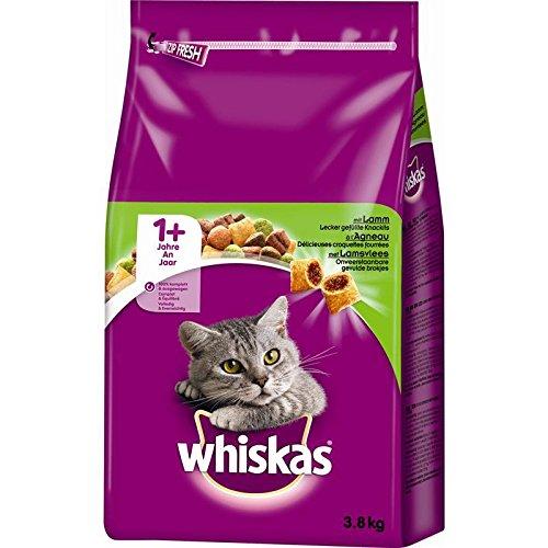 Whiskas Trocken Adult 1+ mit Lamm 3, 8kg