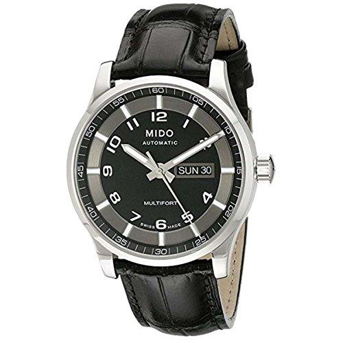 Mido Herren Analog Automatik Uhr mit Leder Armband M0054301605280