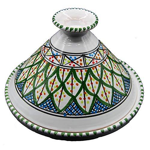 Decoración étnica Tajín decorativo de terracota marroquí Túnez, 27 cm, 3010201211