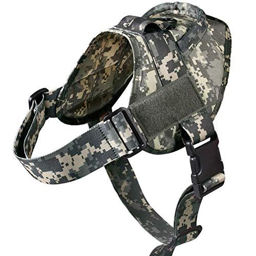 Arnes Perro Yuan Ou Arnés para Perros Caminar Nylon Ajustable Collar de Perro para Mascotas Chaleco Bungee Correa para Perros Arnés L ACUHarness