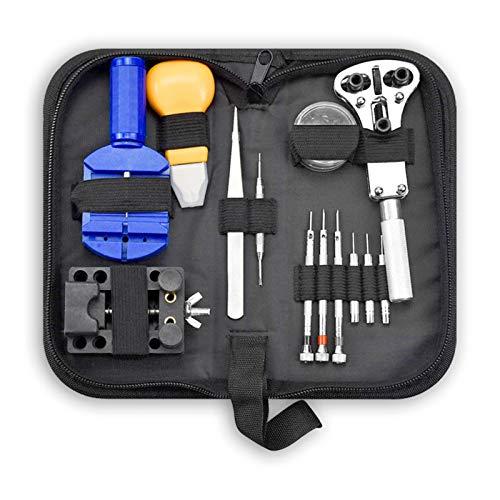 Mire el kit de la herramienta de reparación KIT Removedor de apertura Barra de primavera Enlace Pry Link Pin Caja Destornillador Reloj relojero Herramientas manuales Piezas (Color : A)