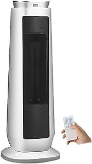 ZEZHOU Calefactor Cerámico con Control Remoto - Calefacción Cerámica - 2000W-3 Potencia - Timing Cita - Protección contra el sobrecalentamiento - Blanco